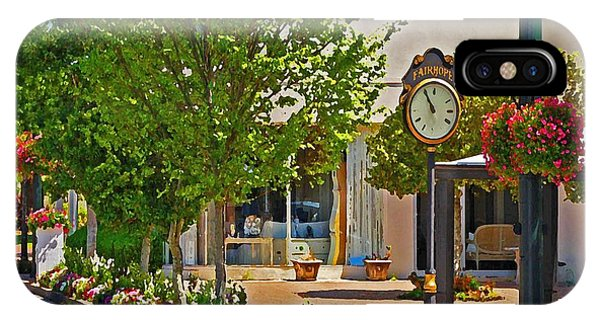 Fairhope Ave With Clock Looking North Up Section Street IPhone Case