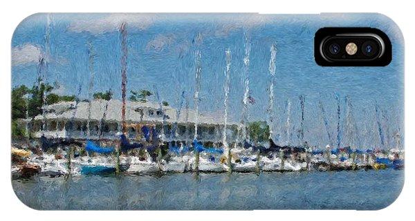 Fairhope Yacht Club Impression IPhone Case
