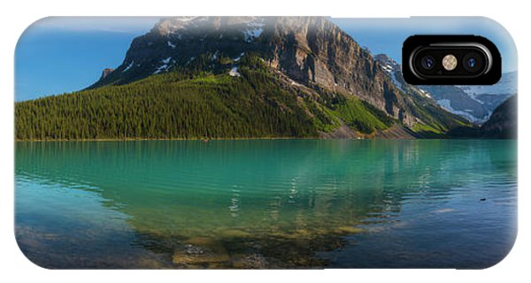 IPhone Case featuring the photograph Fairview Mountain On Lake Louise by Owen Weber