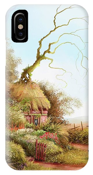 Fairy Chase Cottage IPhone Case