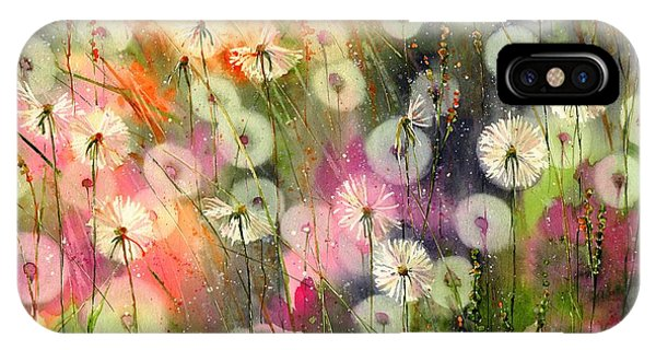 Leave iPhone Case - Fairy Dandelions Fields by Suzann Sines