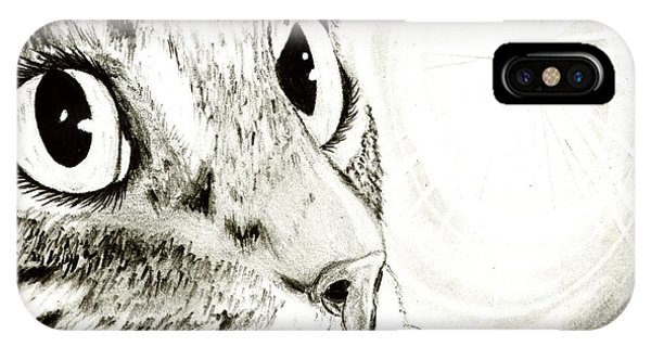 Fairy Light Tabby Cat Drawing IPhone Case