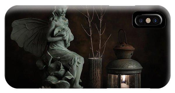 Fairy iPhone Case - Fairy With Lilies by Tom Mc Nemar