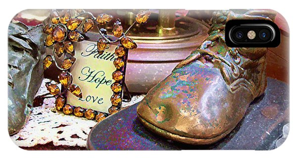 IPhone Case featuring the photograph Faith Hope Love 2 by Kate Word