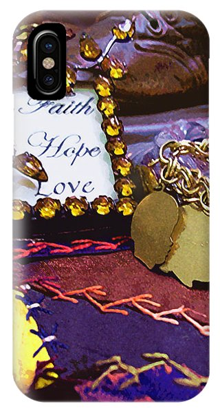 IPhone Case featuring the photograph Faith Hope Love 4 by Kate Word