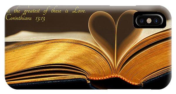 Faith. Hope. Love. IPhone Case