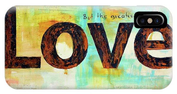 Love iPhone Case - Faith Hope Love by Ivan Guaderrama