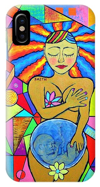 Faith, She Carries The World On Her Hips IPhone Case