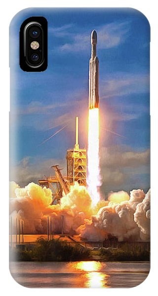 IPhone Case featuring the photograph Falcon Heavy Rocket Launch Spacex by SpaceX