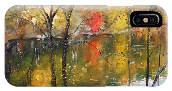 Lake iPhone Case - Fall 2009 by Ylli Haruni