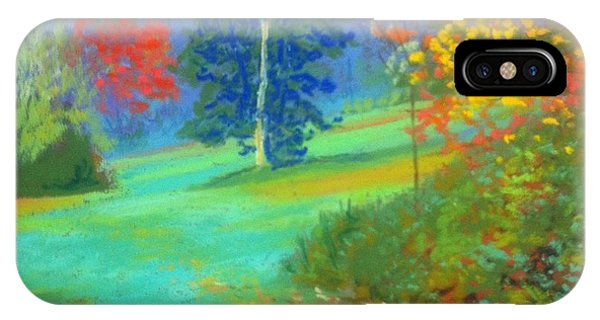 Fall Across The Field  IPhone Case