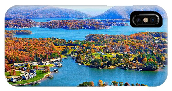 Fall Aerial Smith Mountain Lake IPhone Case