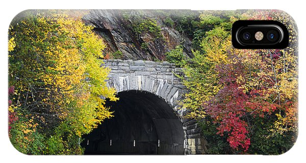 Fall Blue Ridge Parkway @ Rough Ridge Tunnel  IPhone Case