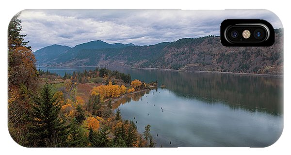 Fall Color At Ruthton Point In Hood River Oregon IPhone Case