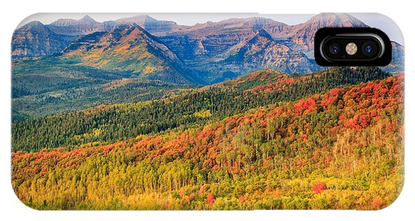 Fall Color On The East Slope Of Timpanogos. Phone Case by Johnny Adolphson