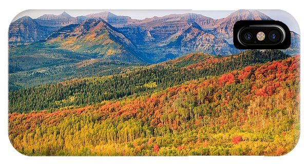 Fall Color On The East Slope Of Timpanogos. IPhone Case