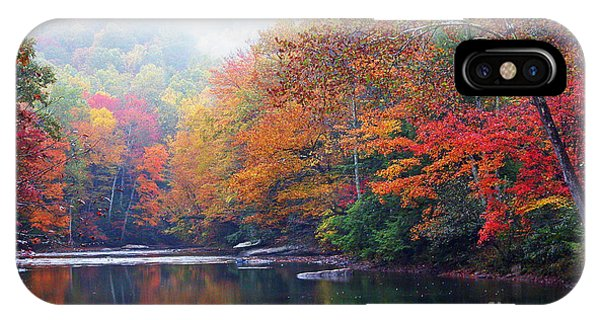 Fall Color Williams River Mirror Image IPhone Case