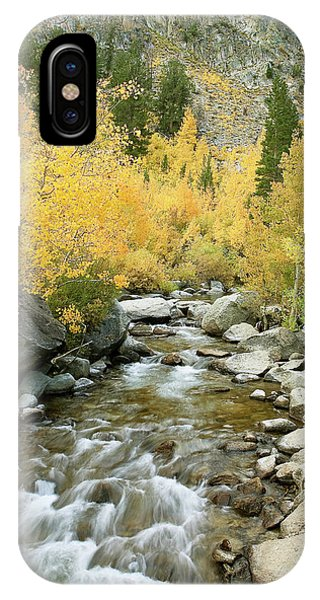 Fall Colors And Rushing Stream - Eastern Sierra California IPhone Case