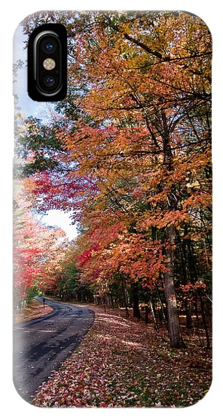 Fall Colors Backroad IPhone Case