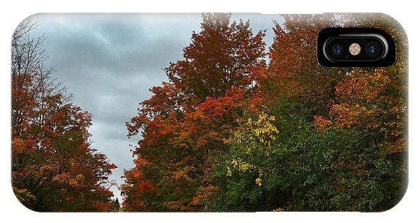 Fall Colors Dramatic Sky IPhone Case