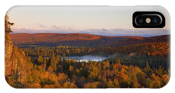 Lake Superior iPhone Case - Fall Colors Orberg Mountain North Shore Minnesota by Wayne Moran