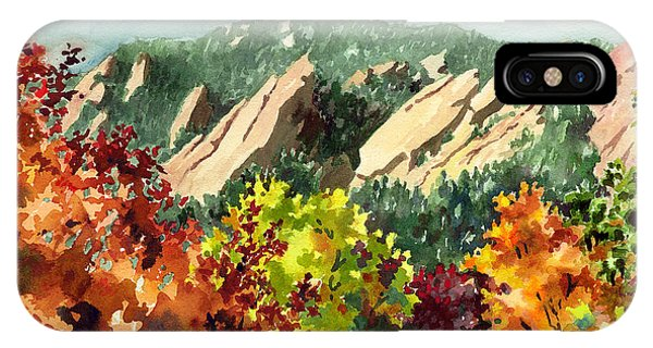 Red iPhone X Case - Fall Flatirons by Anne Gifford
