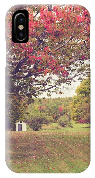 New England Fall Foliage iPhone Case - Fall Foliage And Old New England Shed by Edward Fielding