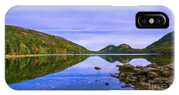 Fall Foliage At Jordan Pond. IPhone Case