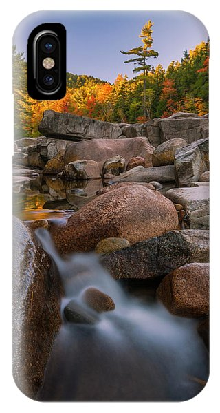 Fall Foliage In New Hampshire Swift River IPhone Case