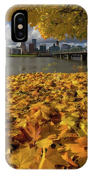 Fall Foliage In Portland Oregon City IPhone Case