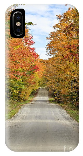 New England Fall Foliage iPhone Case - Fall Foliage On The Back Roads Of Vermont by Edward Fielding