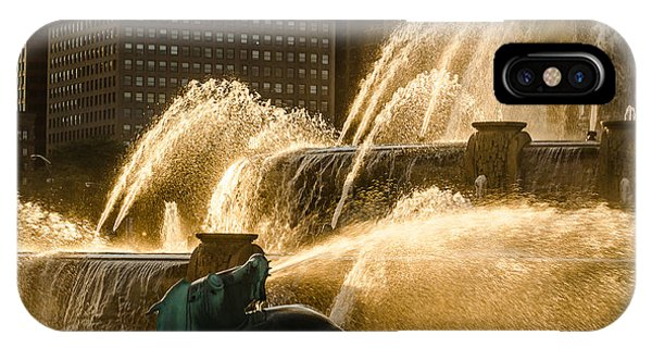 Fall Fountain IPhone Case
