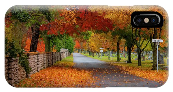 Fall In The Cemetery IPhone Case
