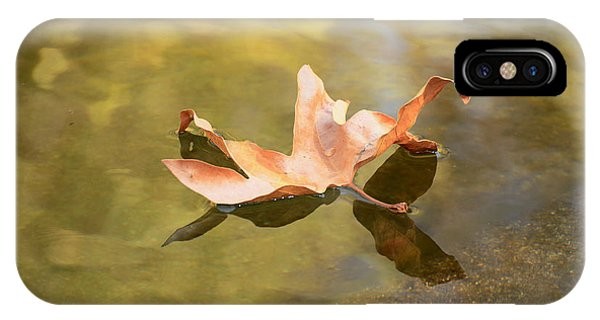 Fall Leaf Floating IPhone Case
