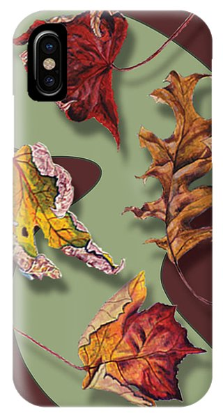 Fall Leaves Card IPhone Case