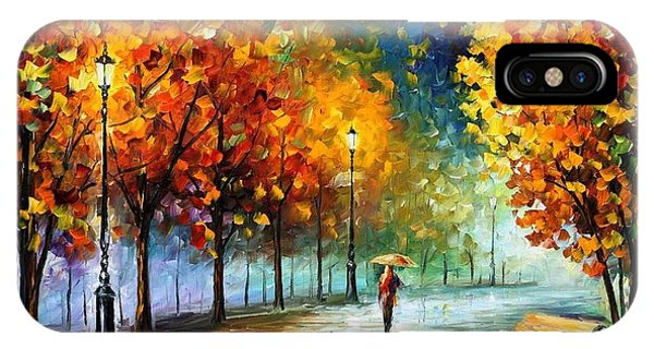 Afremov iPhone X Case - Fall Marathon by Leonid Afremov