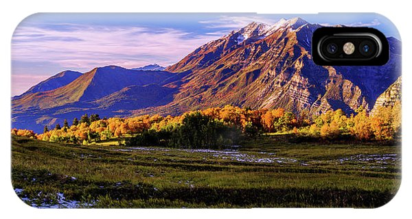 Sunset iPhone Case - Fall Meadow by Chad Dutson