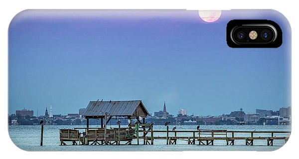 Fall Moon And King Tide - Charleston Sc IPhone Case