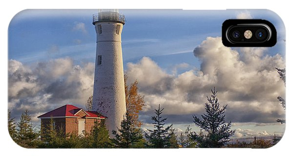 Fall Morning At Crisp Point IPhone Case