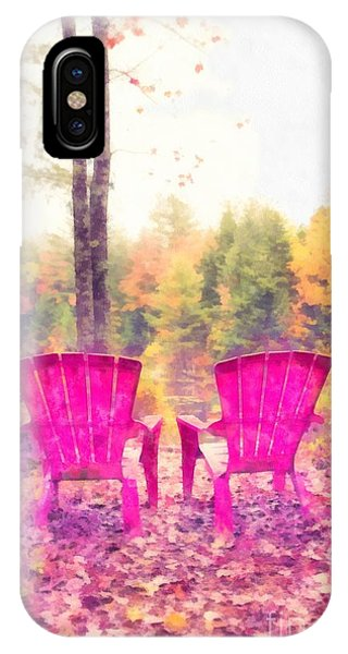 Fall Colors iPhone Case - Fall On Anderson Pond Eastman Grantham New Hampshire by Edward Fielding