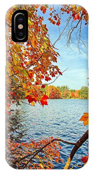 Fall On Lake Opechee IPhone Case