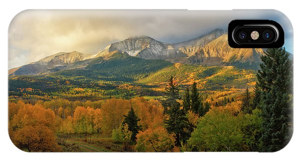 Fall On Mt Sopris  IPhone Case