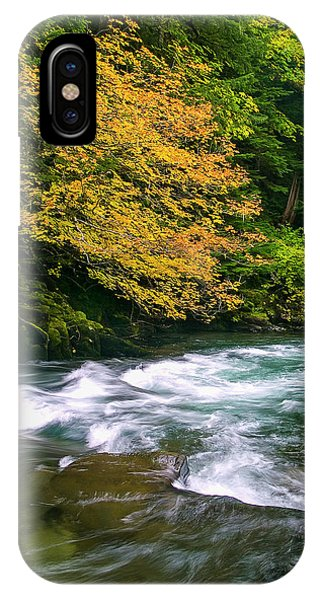 Fall On The Clackamas River, Or IPhone Case