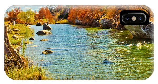 Fall On The Medina River IPhone Case