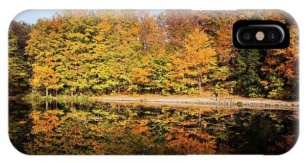 Fall Ontario Forest Reflecting In Pond  IPhone Case