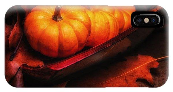 Closeup iPhone Case - Fall Pumpkins Still Life by Tom Mc Nemar