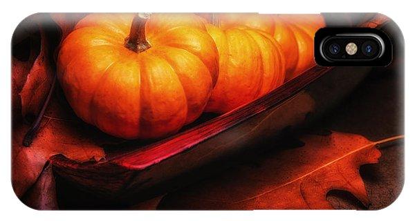 Pumpkin iPhone Case - Fall Pumpkins Still Life by Tom Mc Nemar