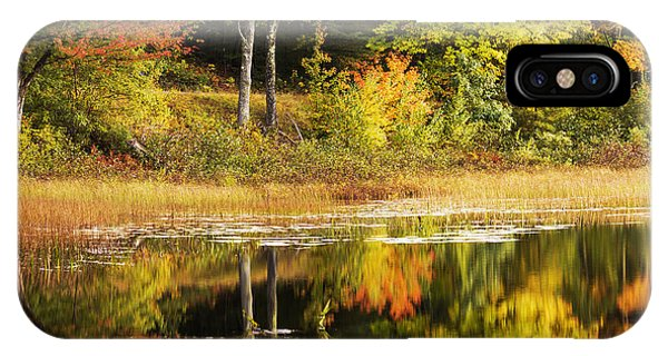 Pond iPhone Case - Fall Reflection by Chad Dutson