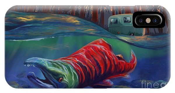 Salmon iPhone Case - Fall Salmon Fishing by Sassan Filsoof