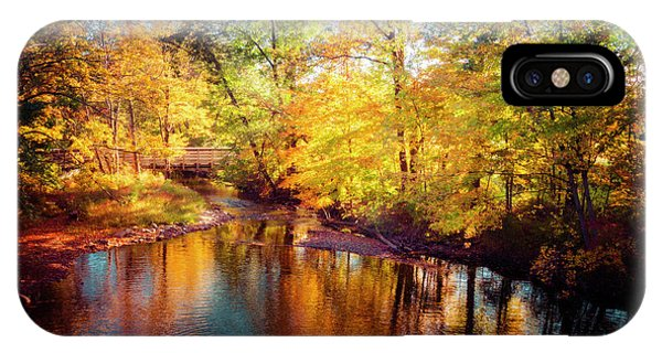 Fall Scene In Stillwater IPhone Case